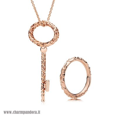 Economici Pandora Rose Regal Pattern Collane Set charmpandora
